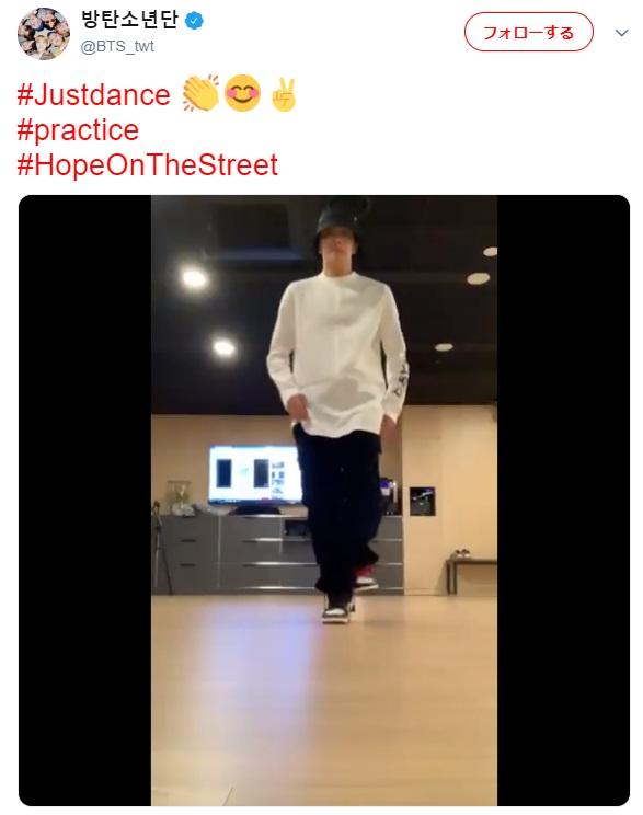 動画を投稿したJ-HOPE