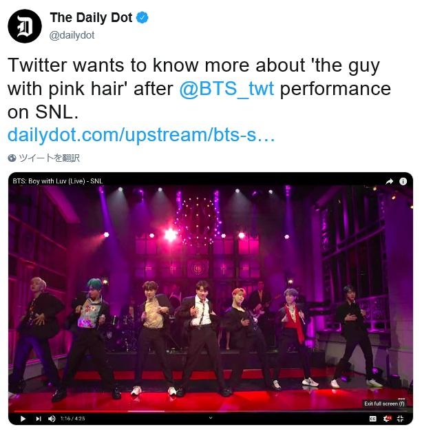 アメリカメディアの「The Daily Dot」もジミンに注目!!