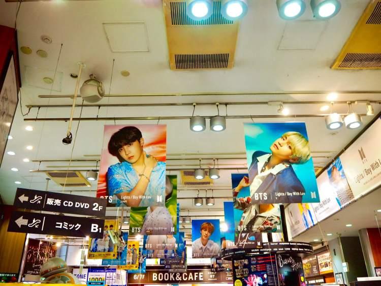 BTS 防弾少年団 Lights 渋谷タワレコ