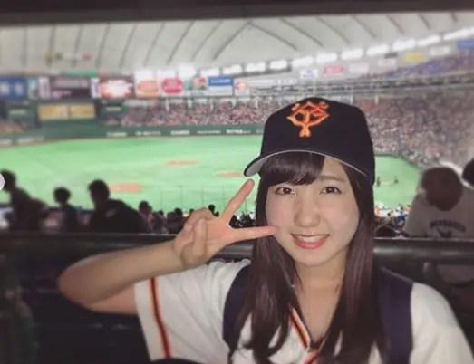 巨人ファンの本田仁美