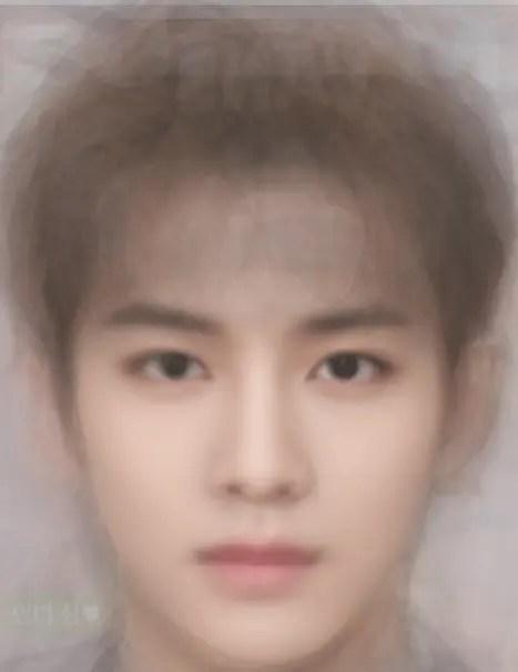 SM 男性アイドルの平均顔