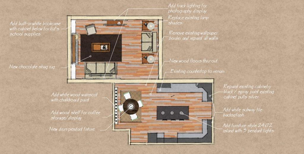 kitchen & living remodel – conceptual designs