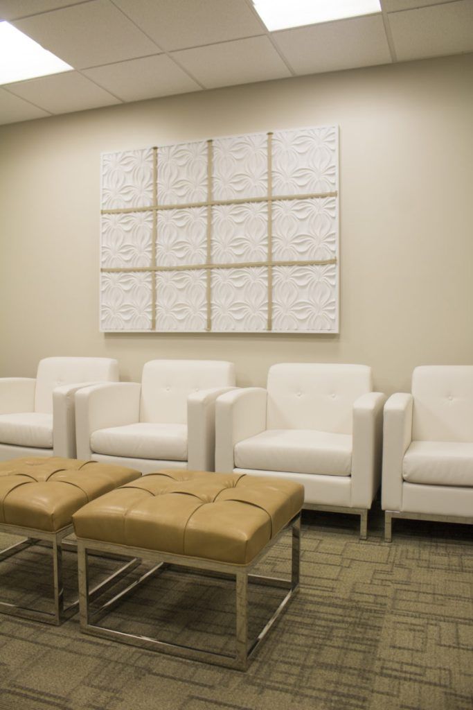 sculptural panels, diy, art, plastic surgery office