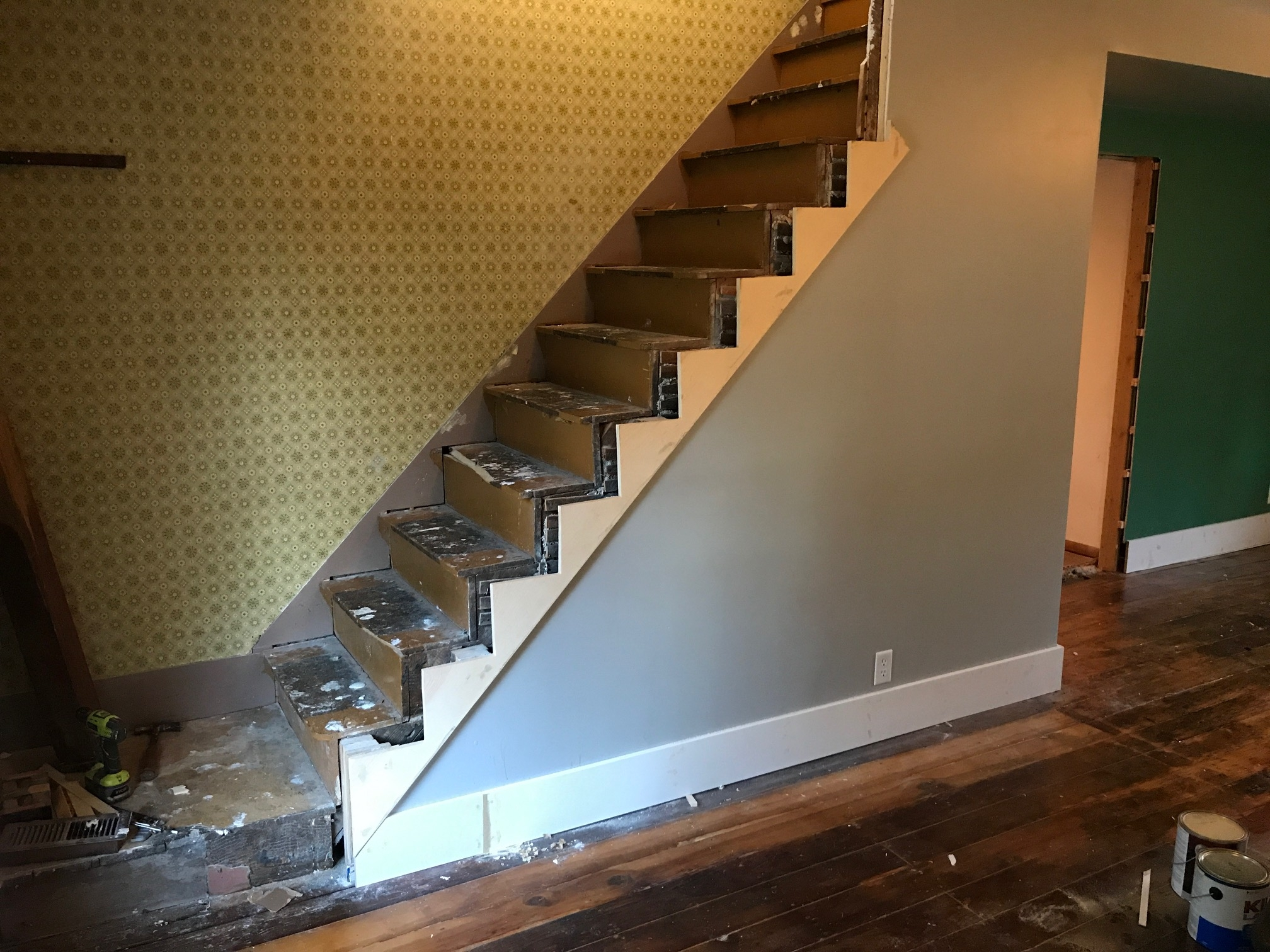 This Old Fixer Upper Part 5 Restoring The Staircase Dan·nix | Wedge Shaped Carpet Stair Treads | Beige | Spiral Stairs | Wood | Adhesive Carpet | Flooring