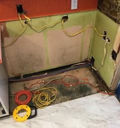 diy kitchen plumbing and wiring renovation [ 2016 x 1512 Pixel ]