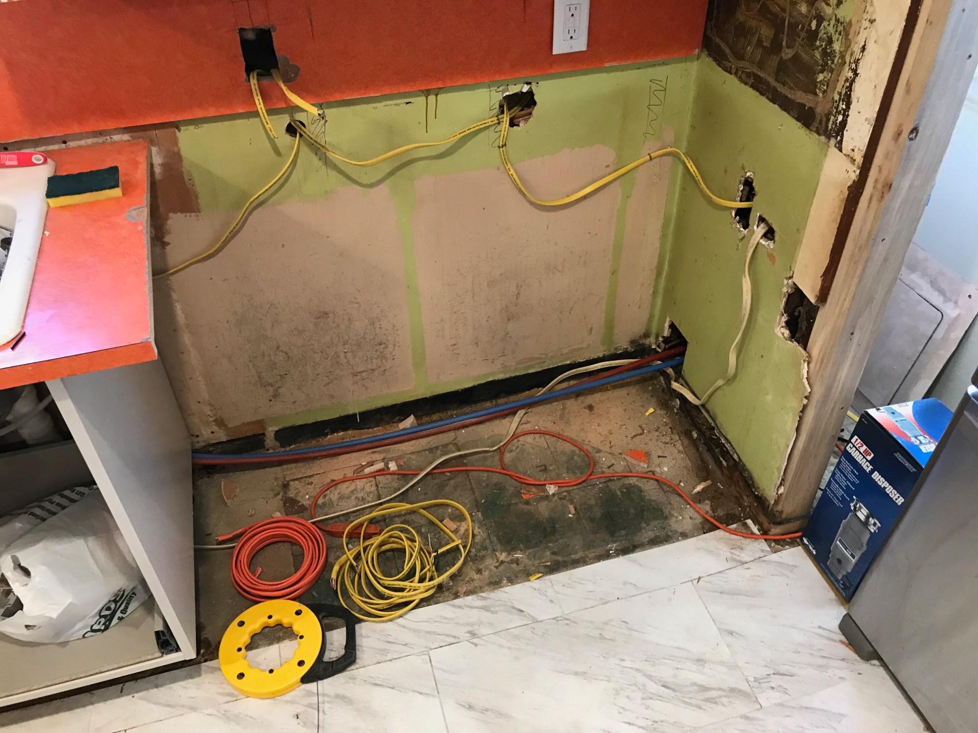 hight resolution of diy kitchen plumbing and wiring renovation