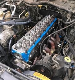 jeep cherokee 4 0l engine head rebuilt top end restoration blown head gasket [ 2016 x 1512 Pixel ]