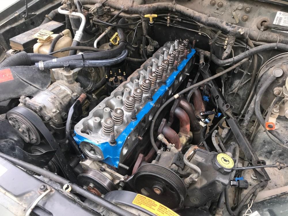 medium resolution of jeep cherokee 4 0l engine head rebuilt top end restoration blown head gasket