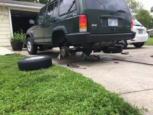 small resolution of jeep cherokee xj rear lift install