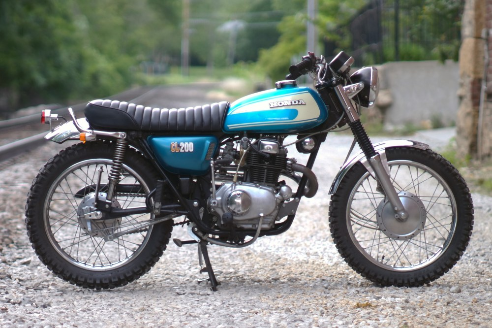 medium resolution of  honda cl200 custom cafe racer scrambler bratstyle tracker motorcycle 1974
