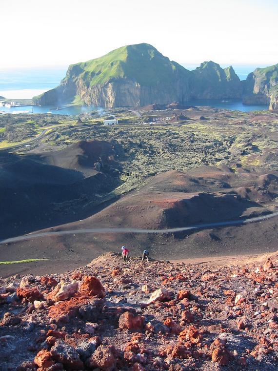 Heimaey Island Eldfell Volcano Iceland