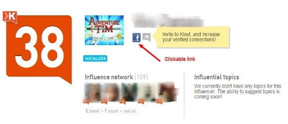 Klout Influence Report