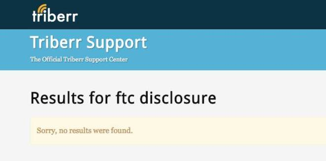 ftc disclosure   Search Results   Triberr Knowledge Base   Help Center