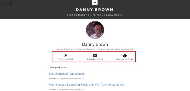 Danny Brown Feedio profile