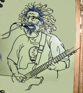 "Jerry Garcia, Steel Rod, H 42"" x W 35"""
