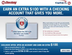 capital one 360 100 bonus