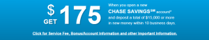 Chase offer 175