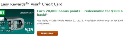 TD Bank Credit Cards