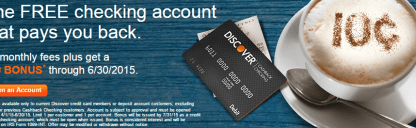 Cashback Checking Account Discover Bank