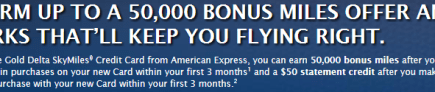 SkyMiles Amex Offer 50k