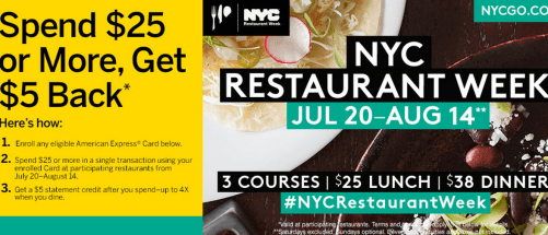 Amex NYC Restaurant Week
