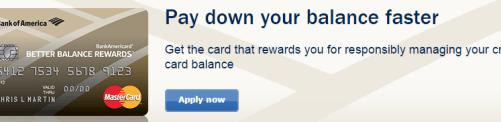 BankAmericard Better Balance Rewards