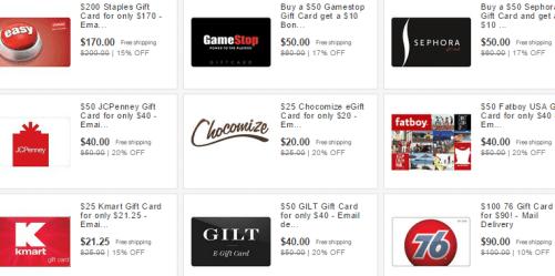 Ebay Gift Card Sale