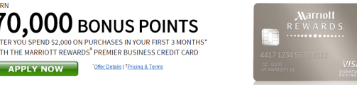 Marriott Rewards Business Credit Card from Chase