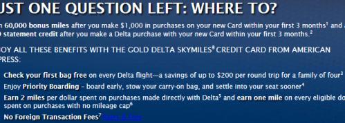 SkyMiles Amex Offer 60k