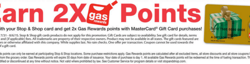 Stop Shop Gas Rewards Mastercard