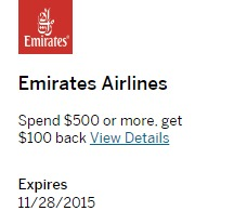 Amex Offers Emirates