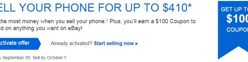 eBay 100 Sell Phone