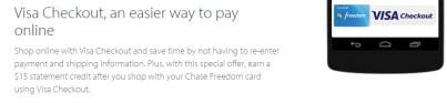 Chase Freedom Visa Checkout