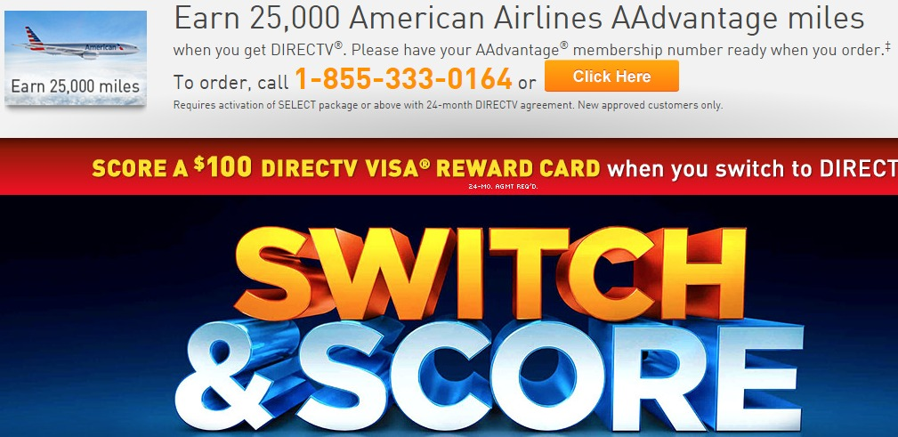 25K AA Miles & $100 Visa Gift Card When You Switch to DirecTV ...