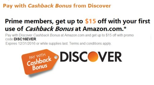 Amazon Discover 15 off