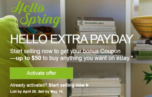 Get Up To 50 When You Sell On Ebay Targeted Danny The Deal Guru