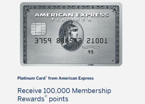 Amex Platinum Card Has Public 100k Mr Points Offer Danny