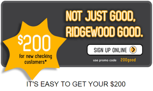 Ridgewood Savings Bank 200 bonus