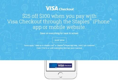 Visa Checkout   Staples 25 off 100.jpeg