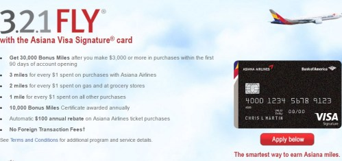 Credit Card Application Asiana Airlines American Express® Card from Bank of America