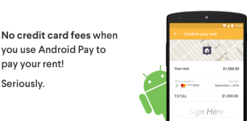 RadPad Android Pay and your Credit Card fee free