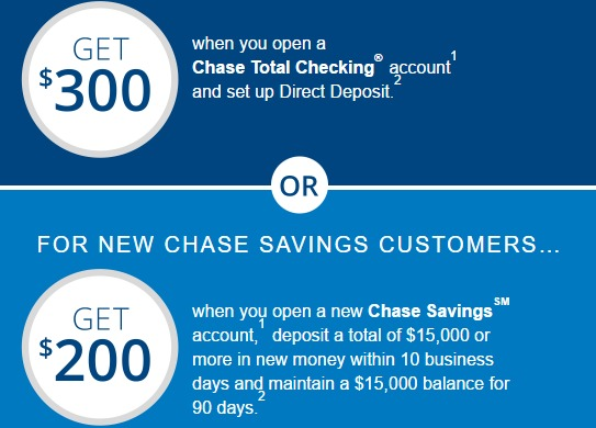 Chase $500 Checking & Savings Bonus, New Online Offer Till 8/6