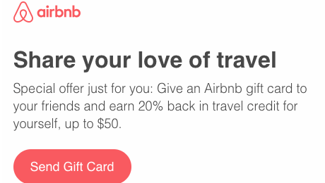 20 Back In Airbnb Credit For Gift Card Purchase Up To 50