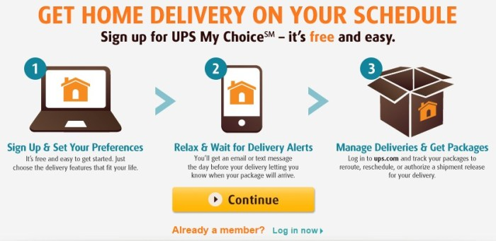 free UPS My Choice