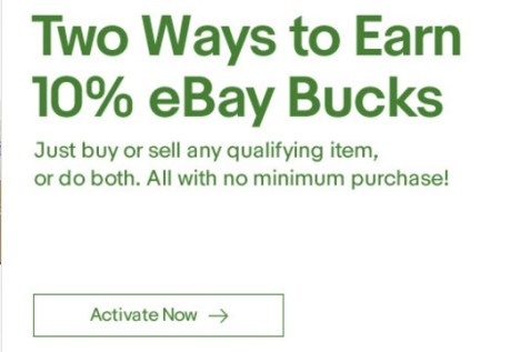 Ebay Bucks Offer Get 10 Back When You Buy Or Sell Targeted Danny The Deal Guru