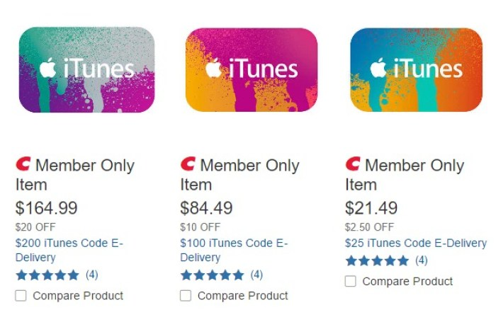 Discounted iTunes Gift Cards
