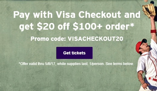 StubHub, 20% Discount With Visa Checkout - Danny the Deal Guru