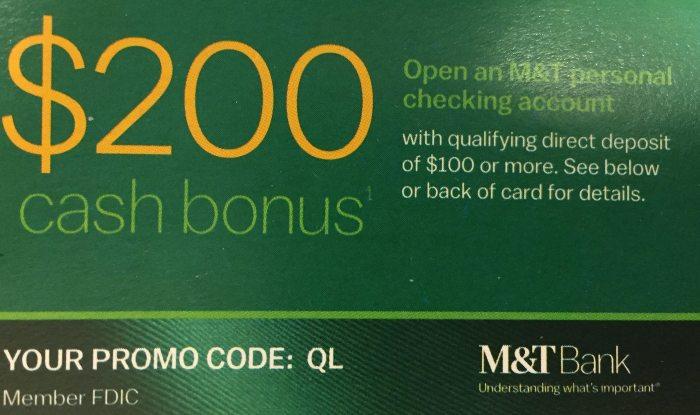 M&T 200 bonus QL