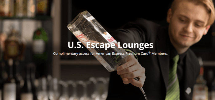Escape Lounges Amex Platinum