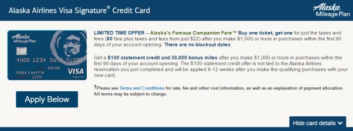 alaska card best offer